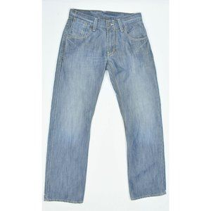 Levi's blue denim straight faded jeans 29